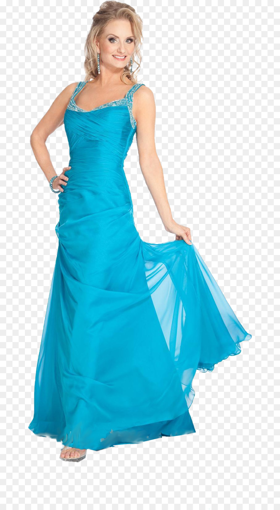 Dress Blue Formal wear Woman Evening gown - dress png download - 722 ...