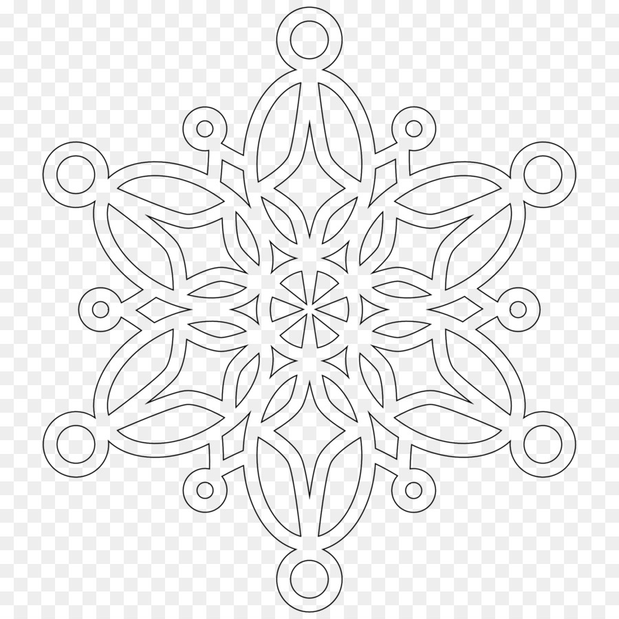Snowflake Mandala Coloring book - Snowflake png download - 1600*1600 ...
