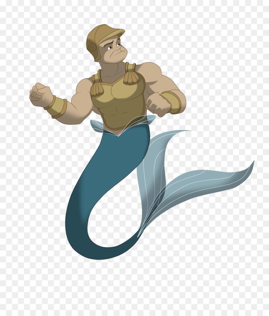 King Triton Mermaid Ariel Merman Meerjungfrau Png Herunterladen