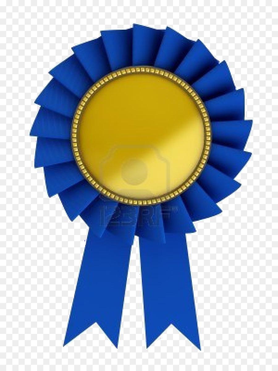 Blue Ribbon Gold Stock Photography Clip Art Award Png