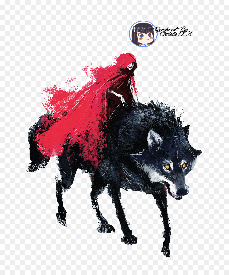 Little Red Riding Hood Big Bad Wolf Art Drawing Red Riding Hood