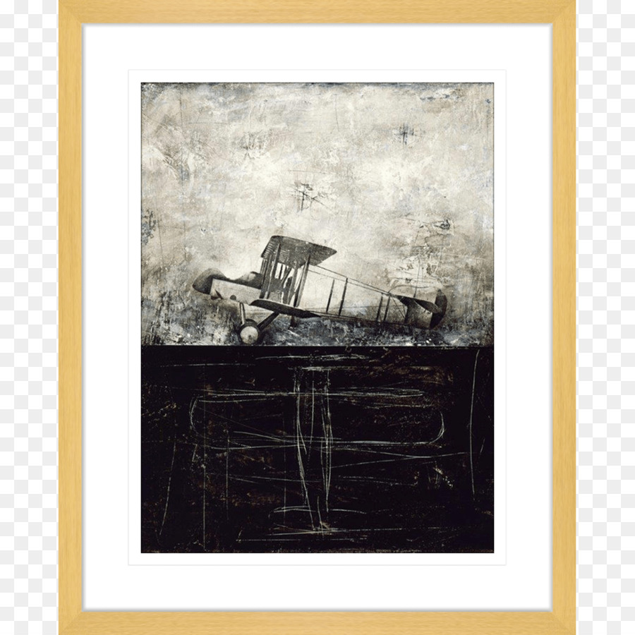 Painting Art museum Airplane Picture Frames - oak png download ...