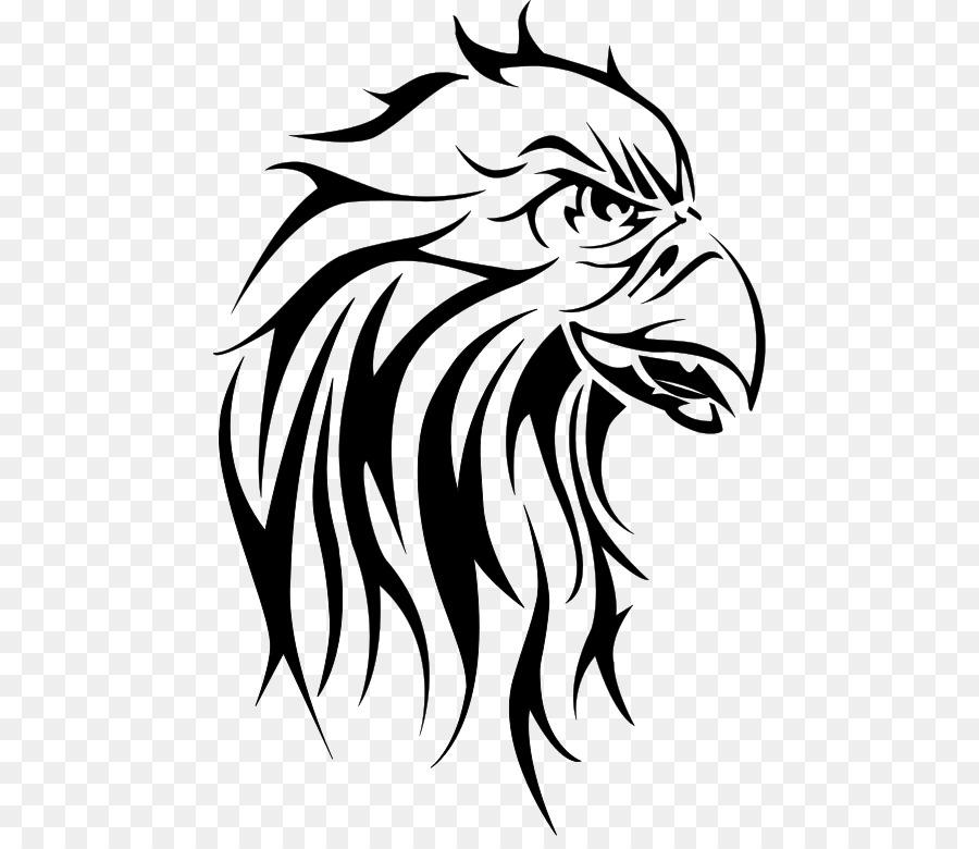 Parte Baja De La Espalda Tatuajes De águilas Calvas Y Negro Gris