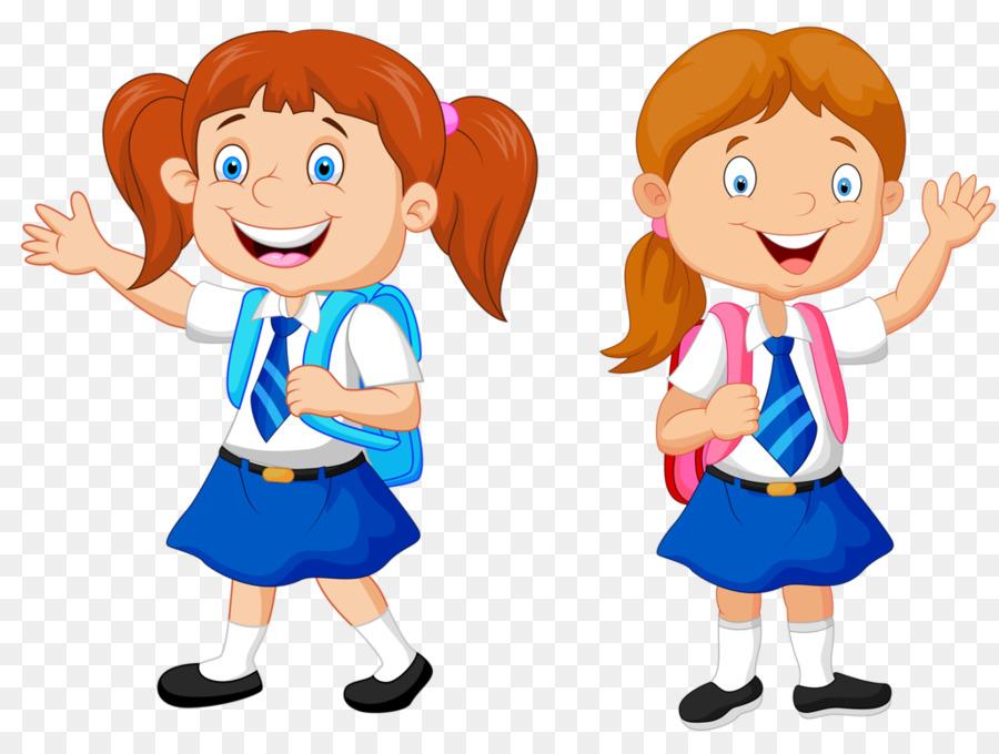 Cartoon School Royalty Free School Kids Png Download