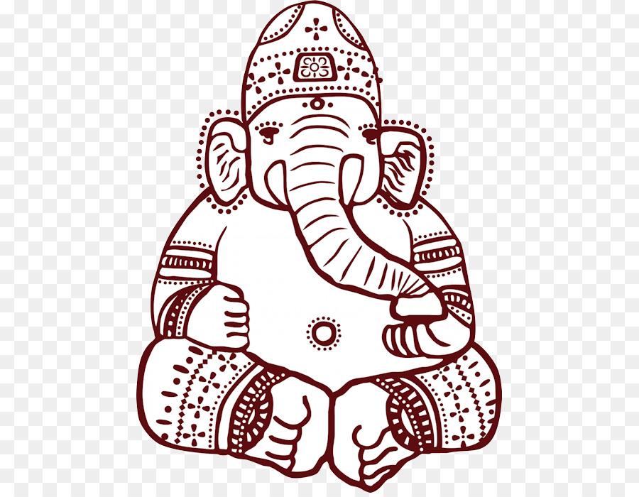 Ganesha Asian Elephant Mehndi