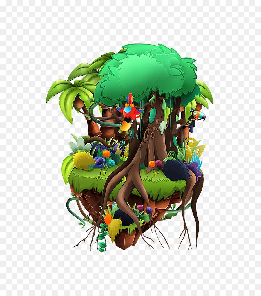 Concepto de arte de Vídeo juego MapGame - isla flotante Formatos De ...