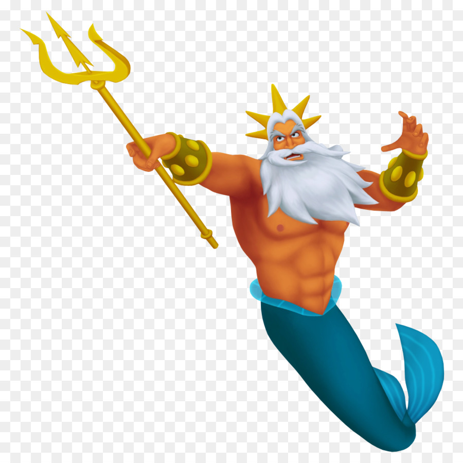 king triton ariel trident mermaid king png download 1024 1024