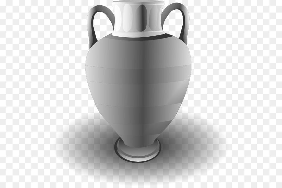Vase Black And White Urn Clip Art Vase Png Download 564595