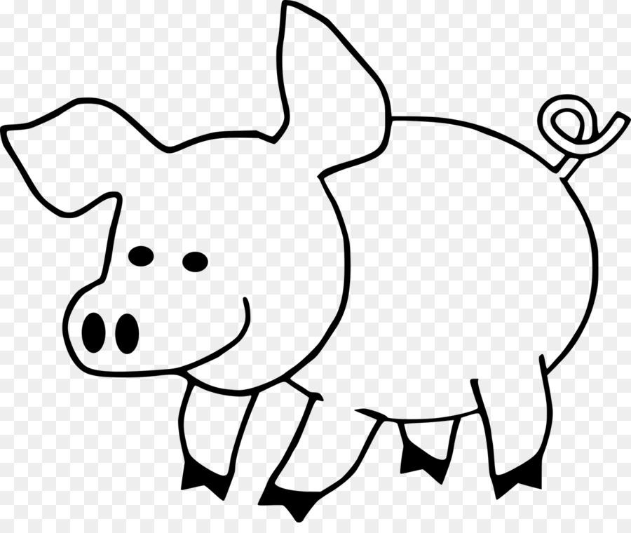 Pig Coloring Book Cuteness Adult Clip Art Pig Png Download 1280