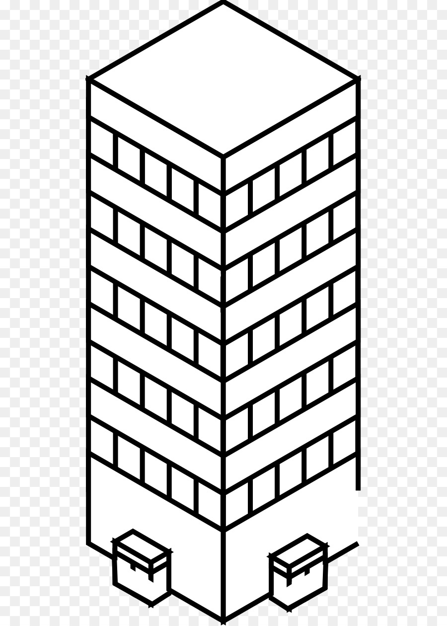 Black And White Drawing Building Clip Art