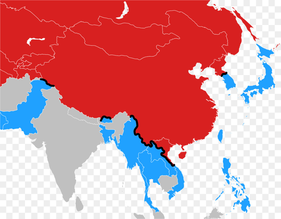 Cold War Map Of Asia.Cold War Iron Curtain Bamboo Curtain China Asia Png Download