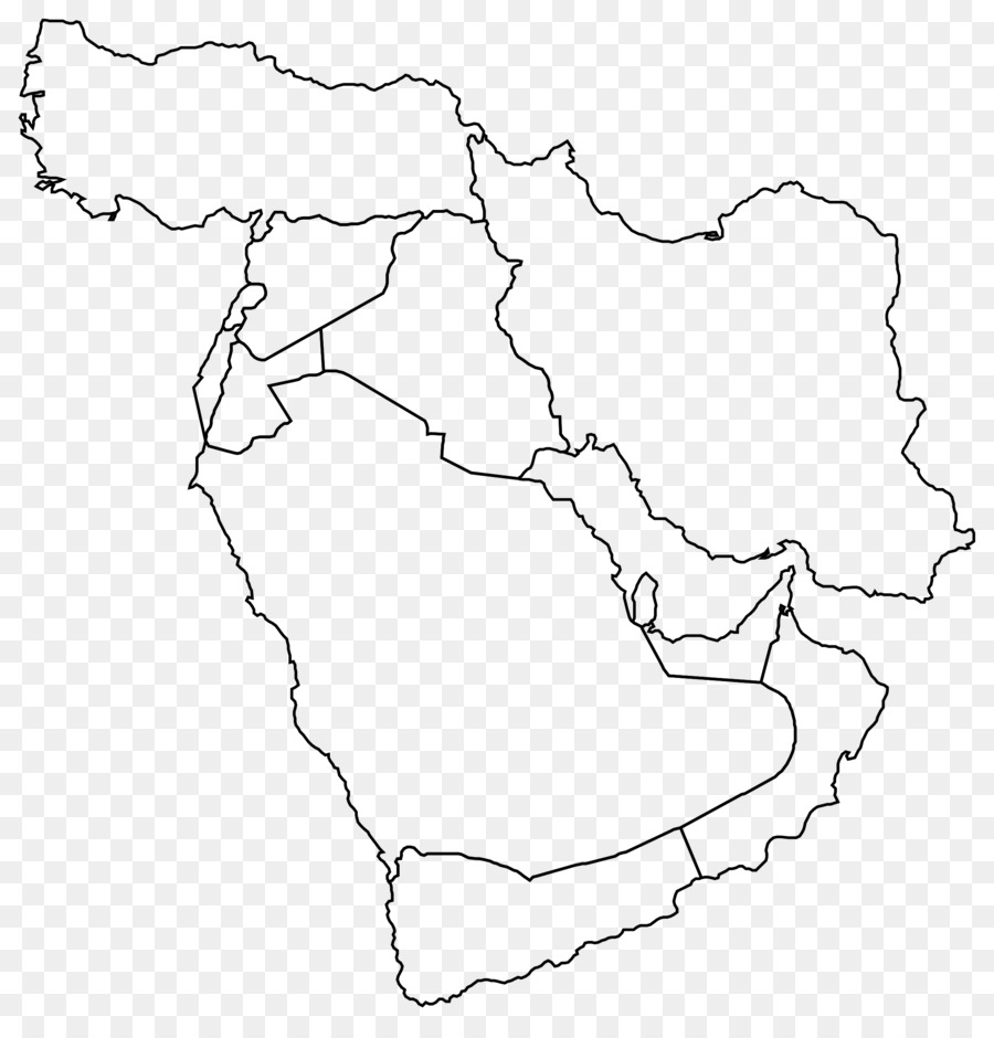 Middle East Near East Blank Map World Map   Persia