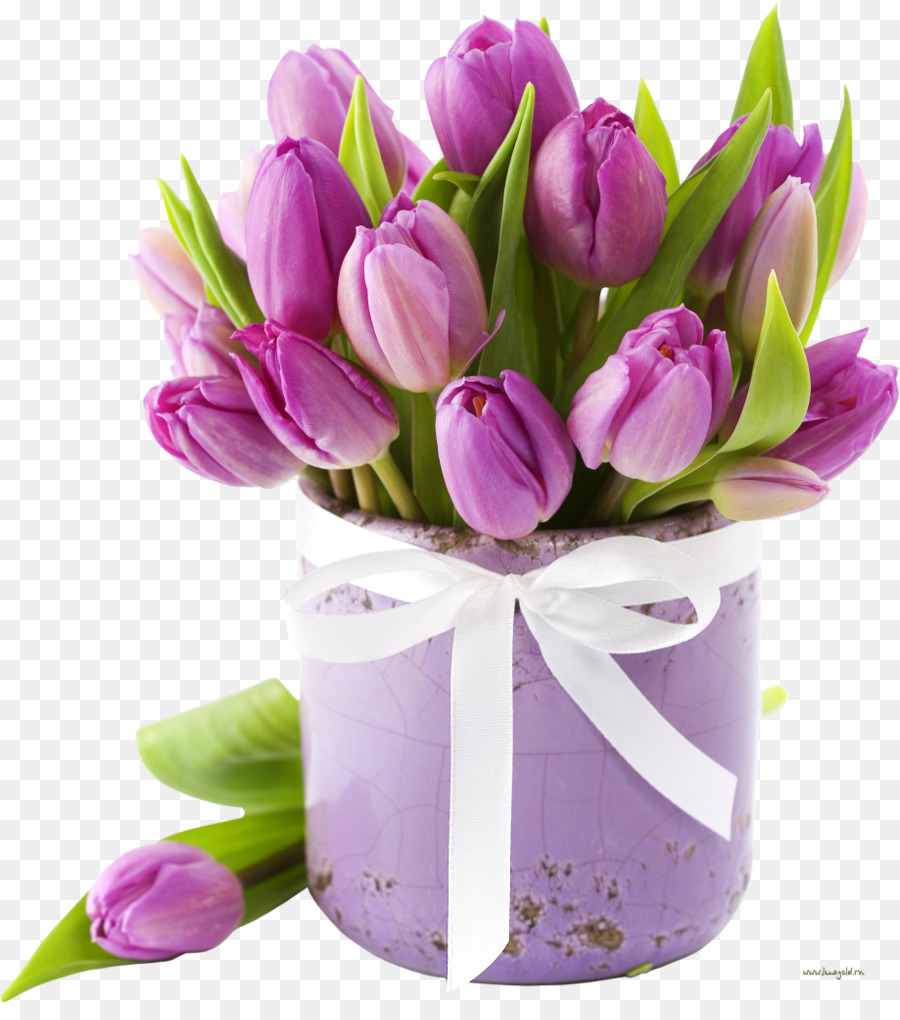 Flower bouquet Tulip Cut flowers Wedding - flower box png download ...