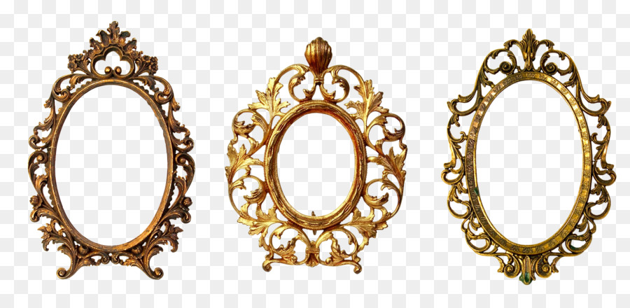 Picture Frames Gold Oval Ornament Decorative Arts