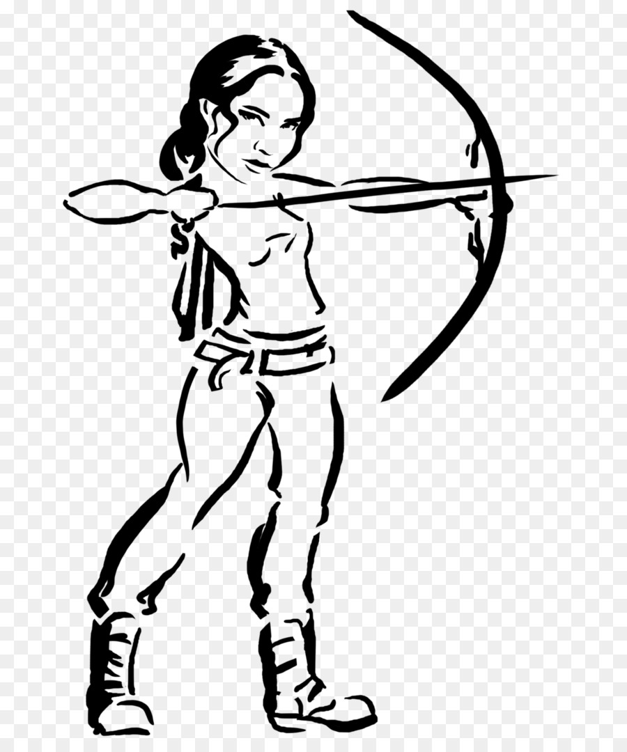 Katniss Everdeen Coloring book Drawing The Hunger Games Video game ...