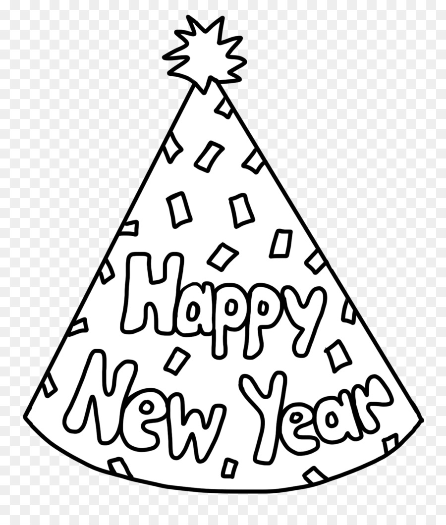 New Year\'s Day New Year\'s Eve Party hat Coloring book - Happy New ...