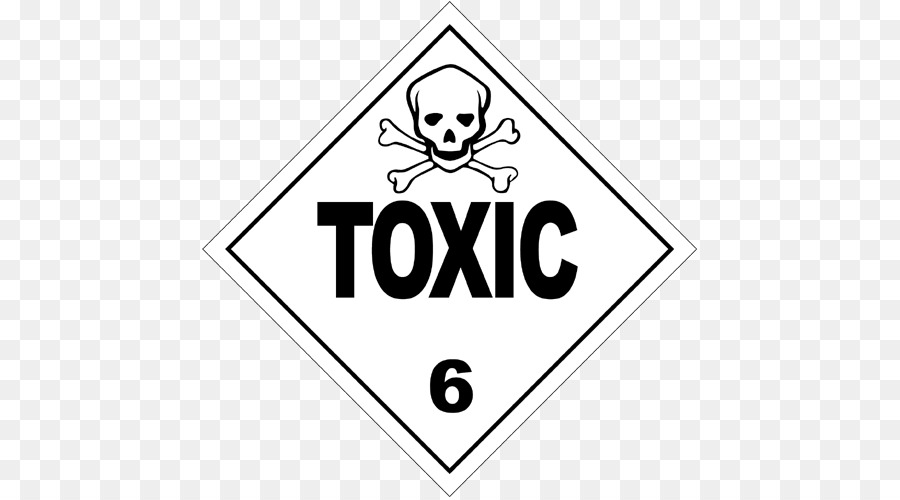 Placard Dangerous Goods Transport Hazmat Class 6 Toxic And