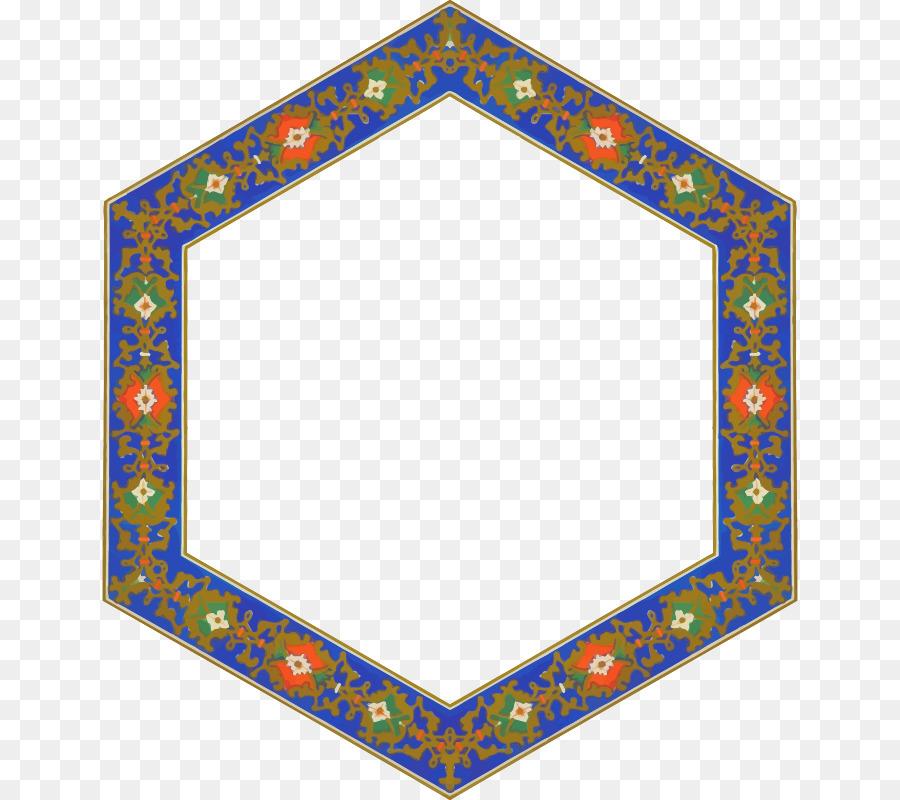 Picture Frames Hexagon Clip art - Frame Border png download - 696 ...