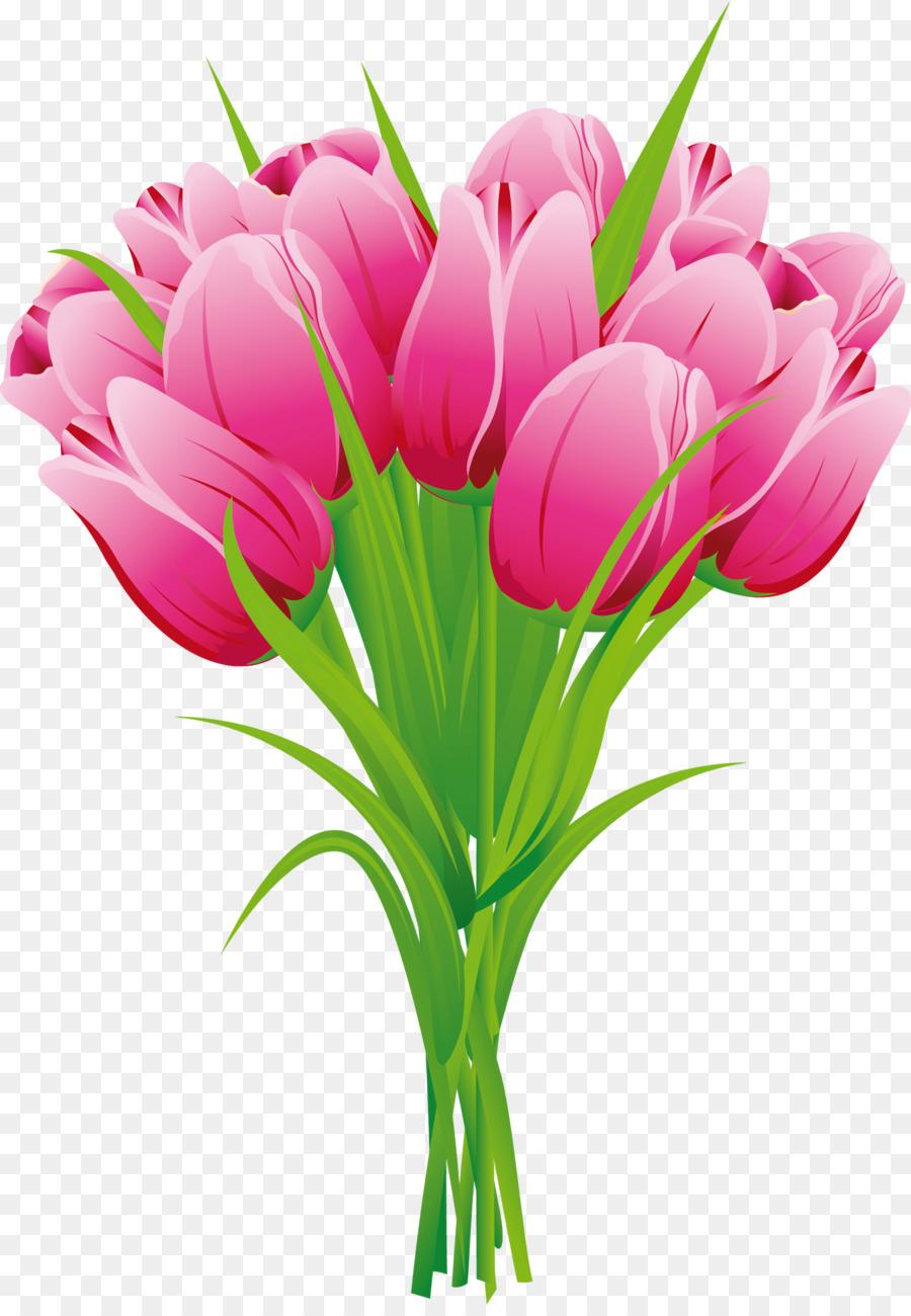 Flower bouquet Tulip Clip art - tulip png download - 1350 ...