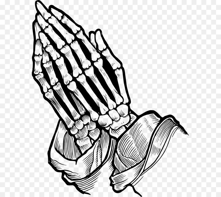 6fa7199b6 Praying Hands Prayer Bone Skull Drawing - Skeleton png download ...