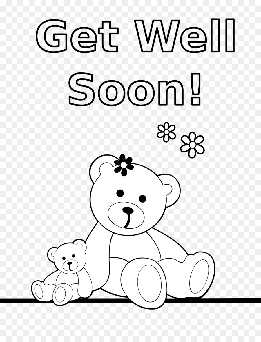 Coloring book Bear Clip art - get well soon png download - 1855*2400 ...