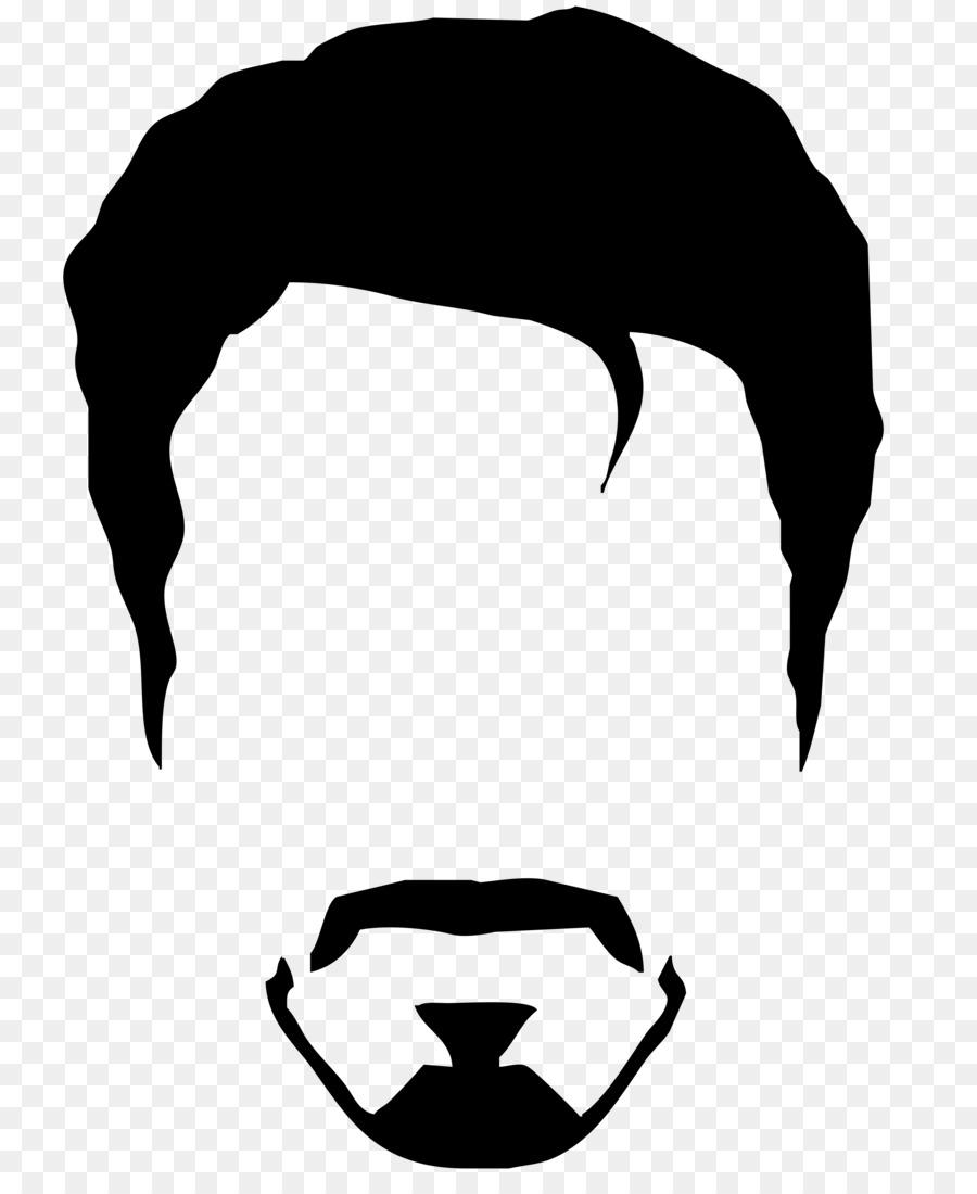 Iron Man Silhouette Spider Man Logo Beard Png Download