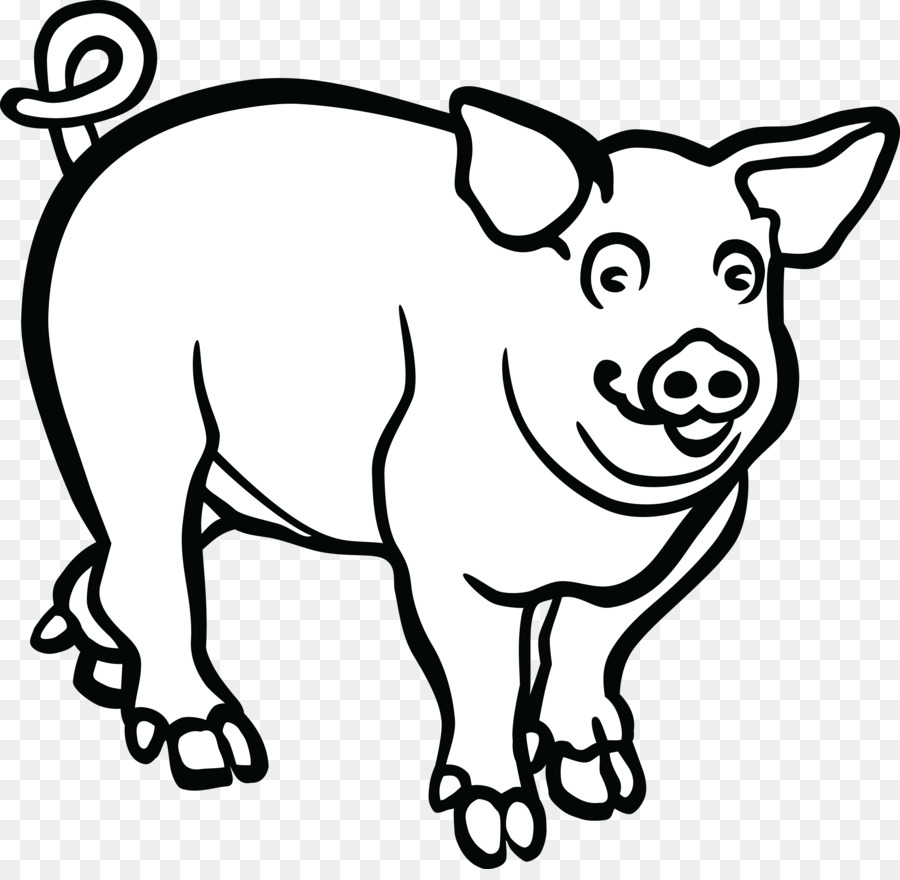 wild boar line art drawing clip art pig png download 4000 3862 rh kisspng com clipart of a piglet clipart of a pig black and white