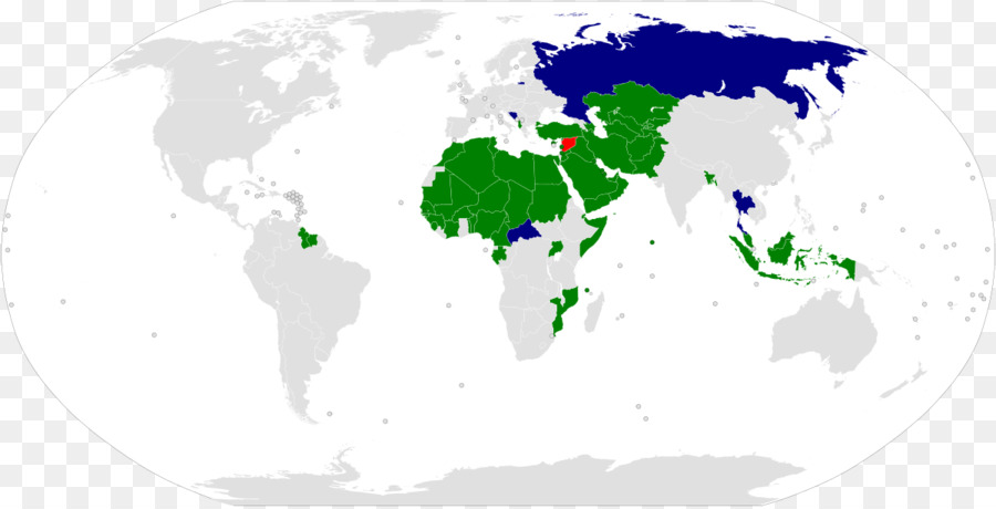 Organisation of Islamic Cooperation World map World map - Islam png ...