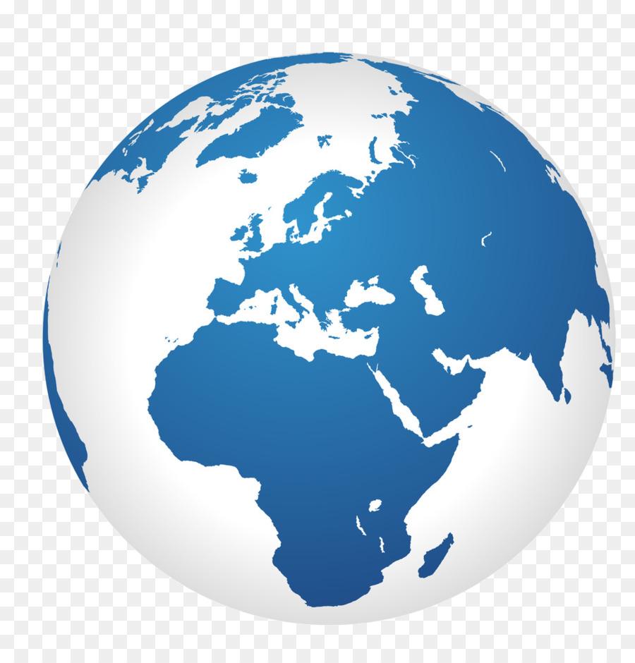 World globe clipart black and white
