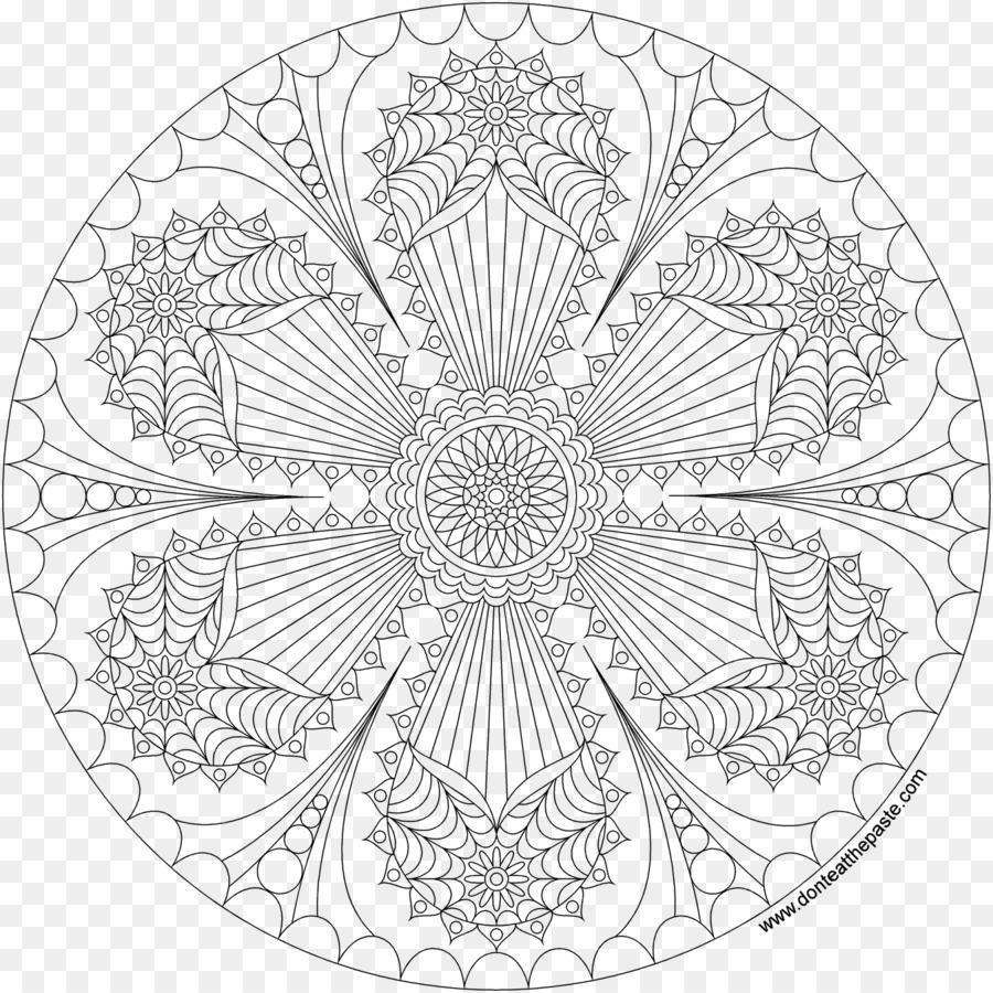 Mandala Da Colorare Per Adulti Lg Scaricare Png Disegno Png