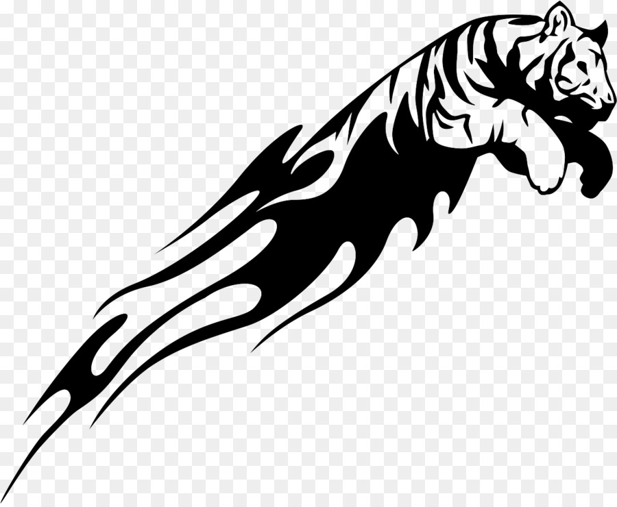 tiger drawing lion decal clip art tiger vector png download 1230