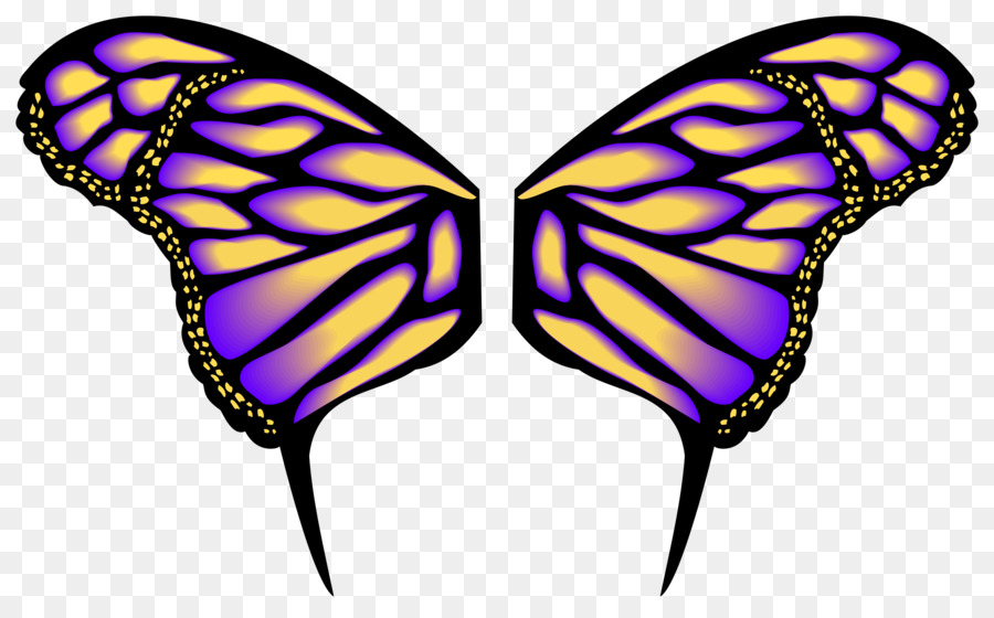 butterfly drawing clip art wings png download 2400 1479 free rh kisspng com clip art butterflies and flowers clipart butterfly and daisy