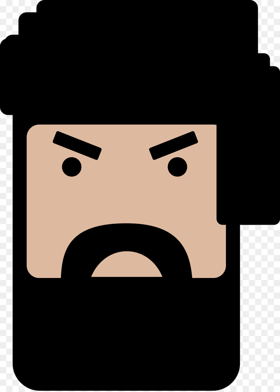 Face beard man clip art beard