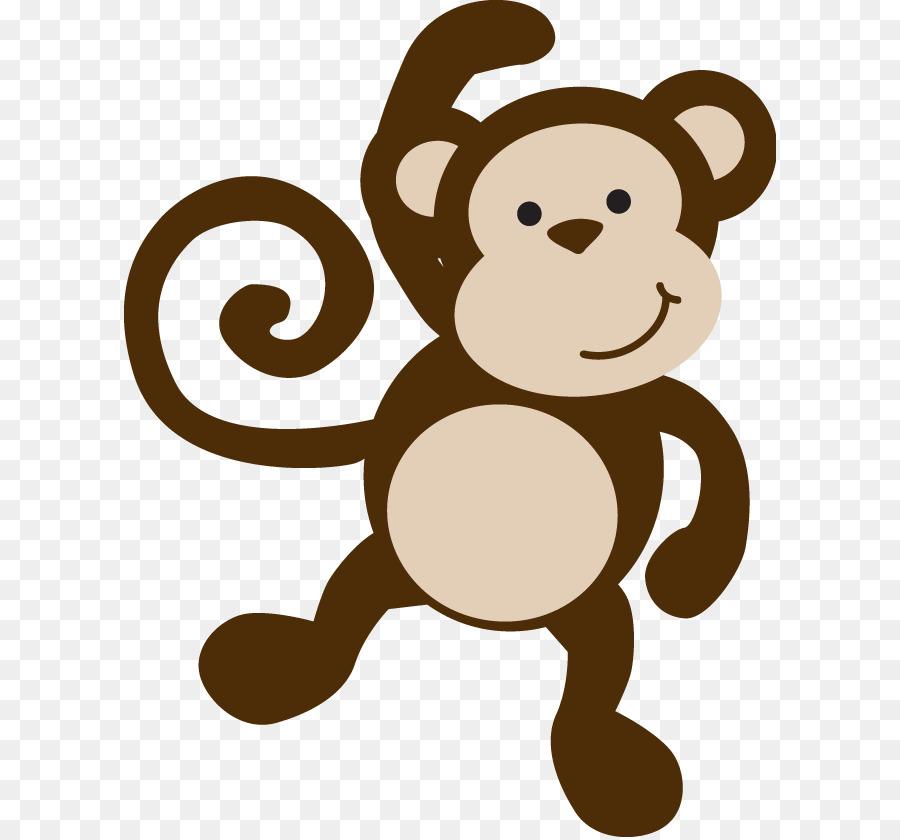 Monkey Baby Shower Template Infant Clip Art