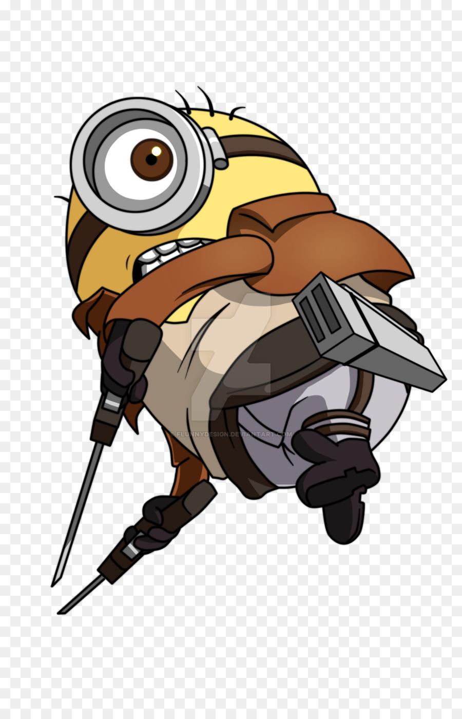 Attack Titan Animasi Kartun Despicable Film Pelayan Unduh Gambar Minion