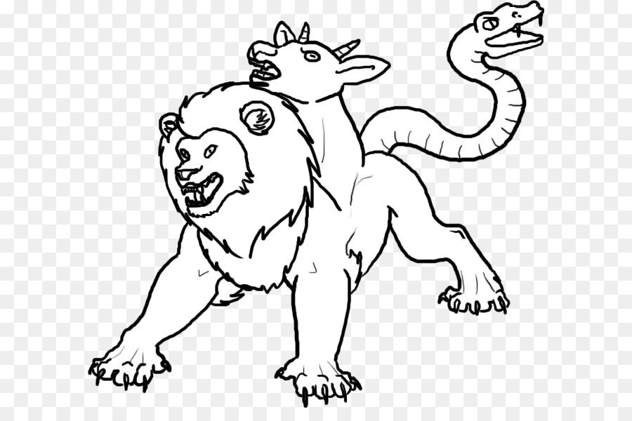 Legendäre Kreatur Ausmalbild Chimera Drache Monster Sand Monster