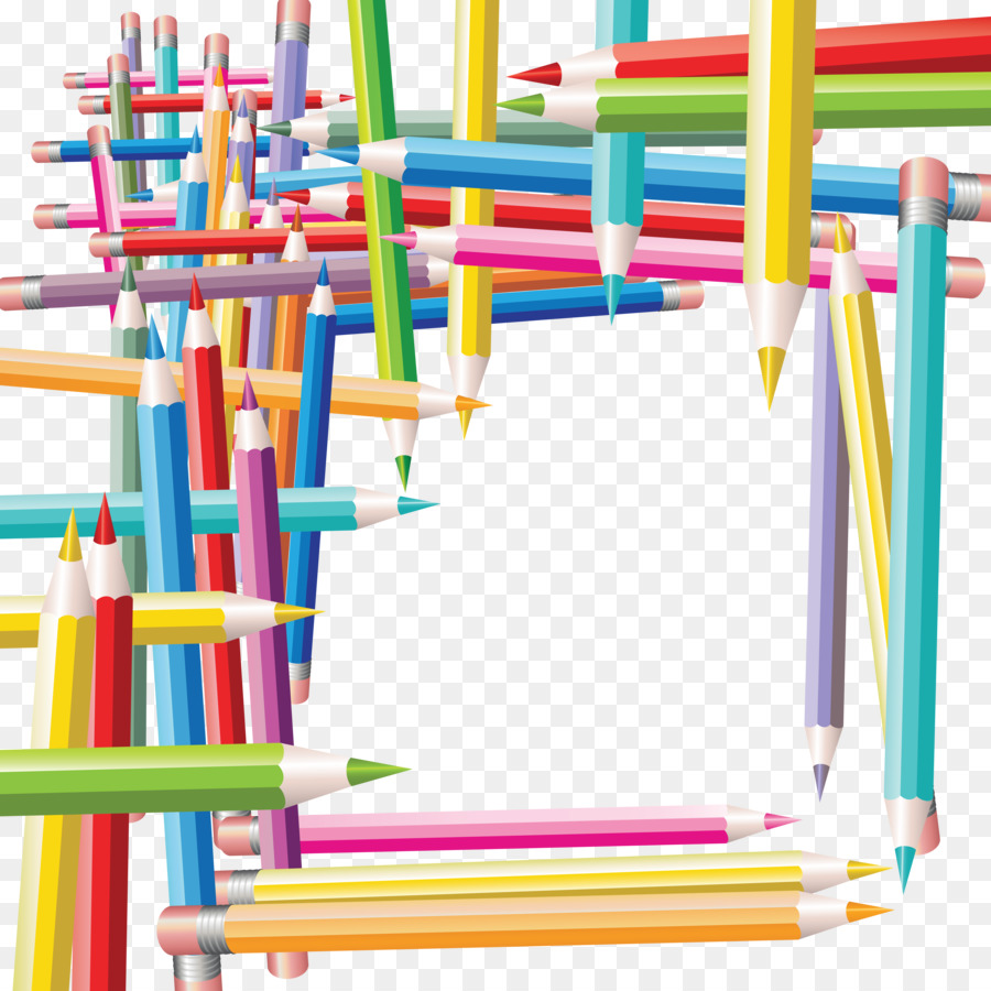Colored pencil Picture Frames Drawing Clip art - Tabla png download ...