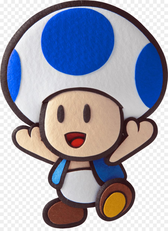 Super Mario Bros Toad Paper Sticker Star