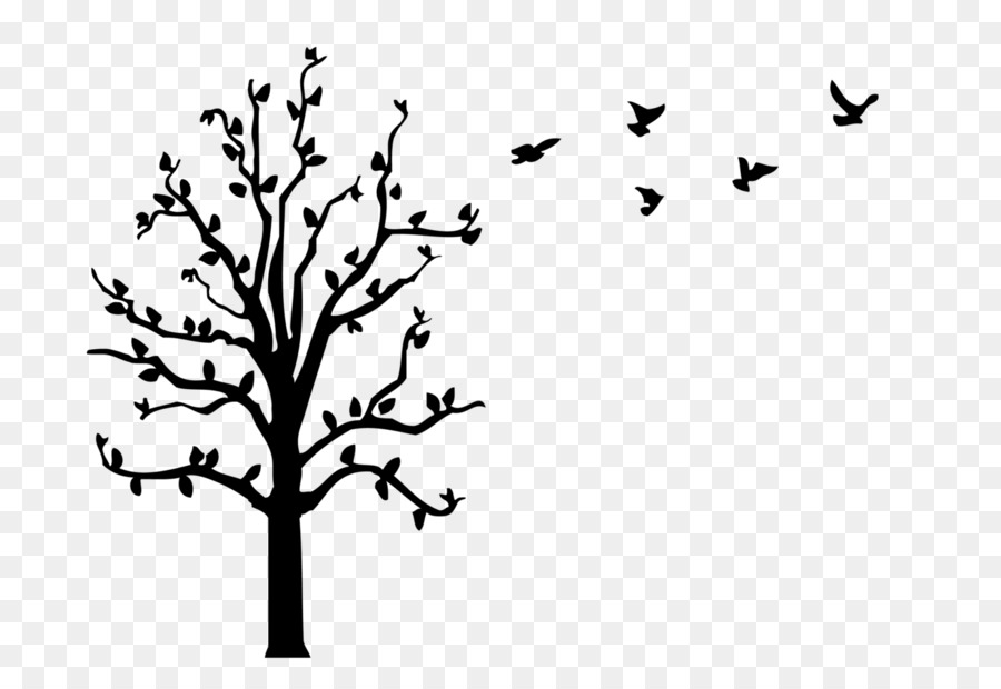 wall decal paper tree sticker - flock of birds png download - 1575