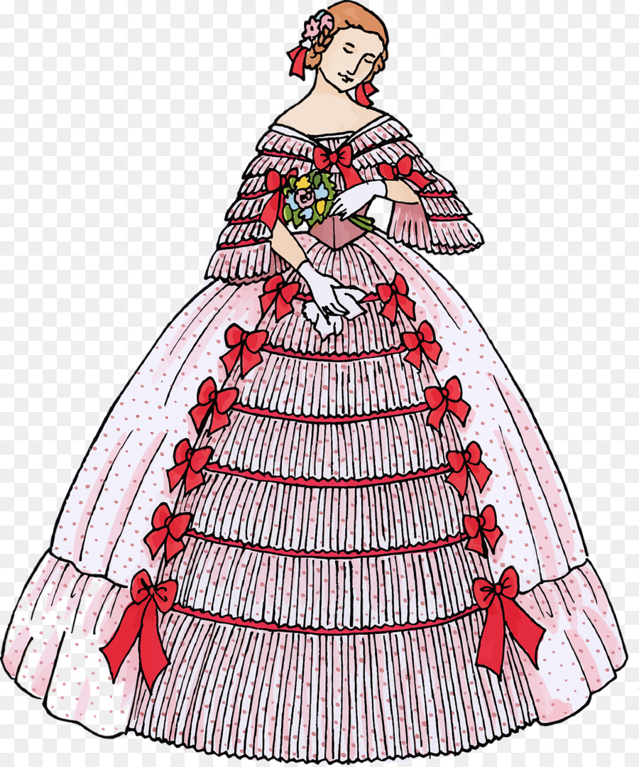 Ball gown Evening gown Dress Clip art - dress png download - 1070 ...