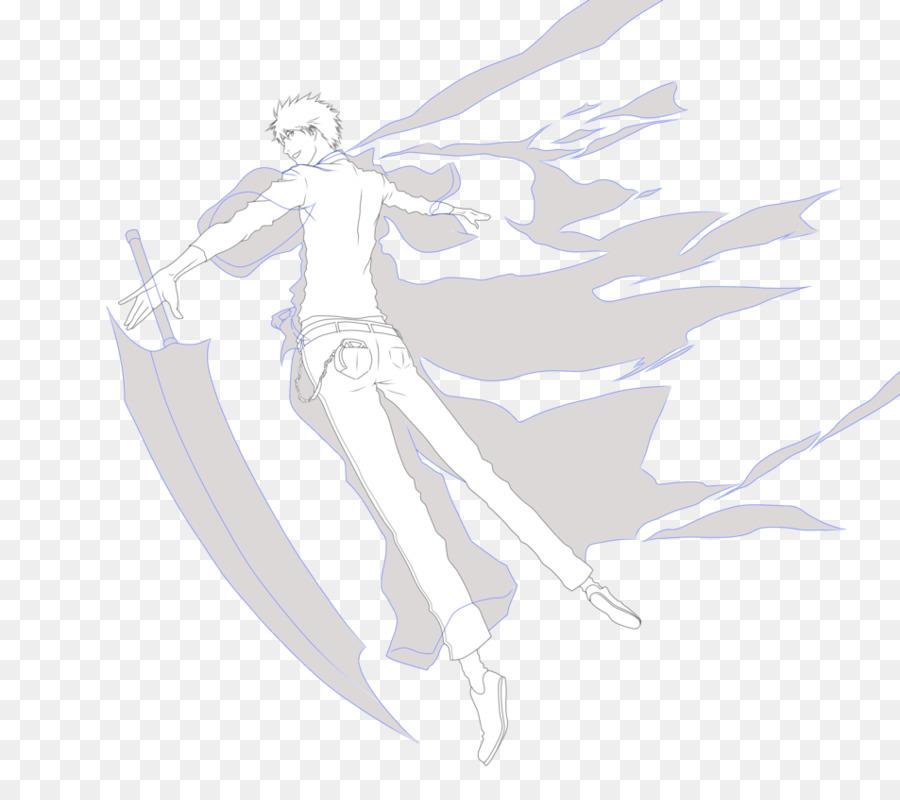 Línea de dibujo en el arte de Croquis - ichigo kurosaki png dibujo ...