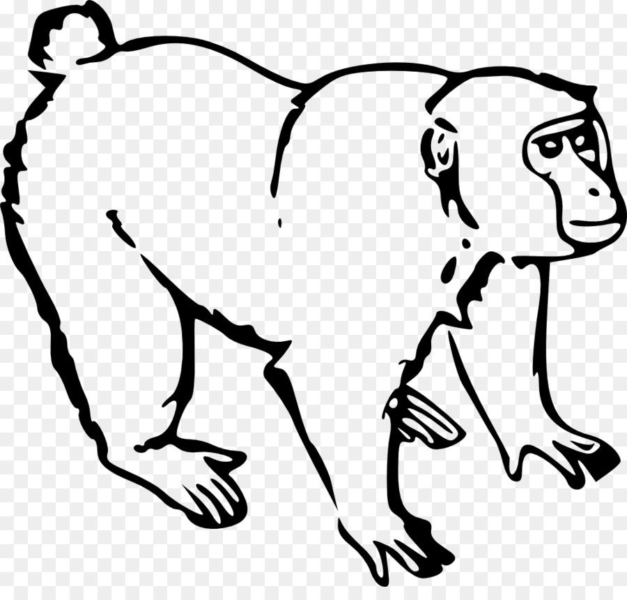 Mono Mono Dibujo Clip art - chimpancé Formatos De Archivo De Imagen ...