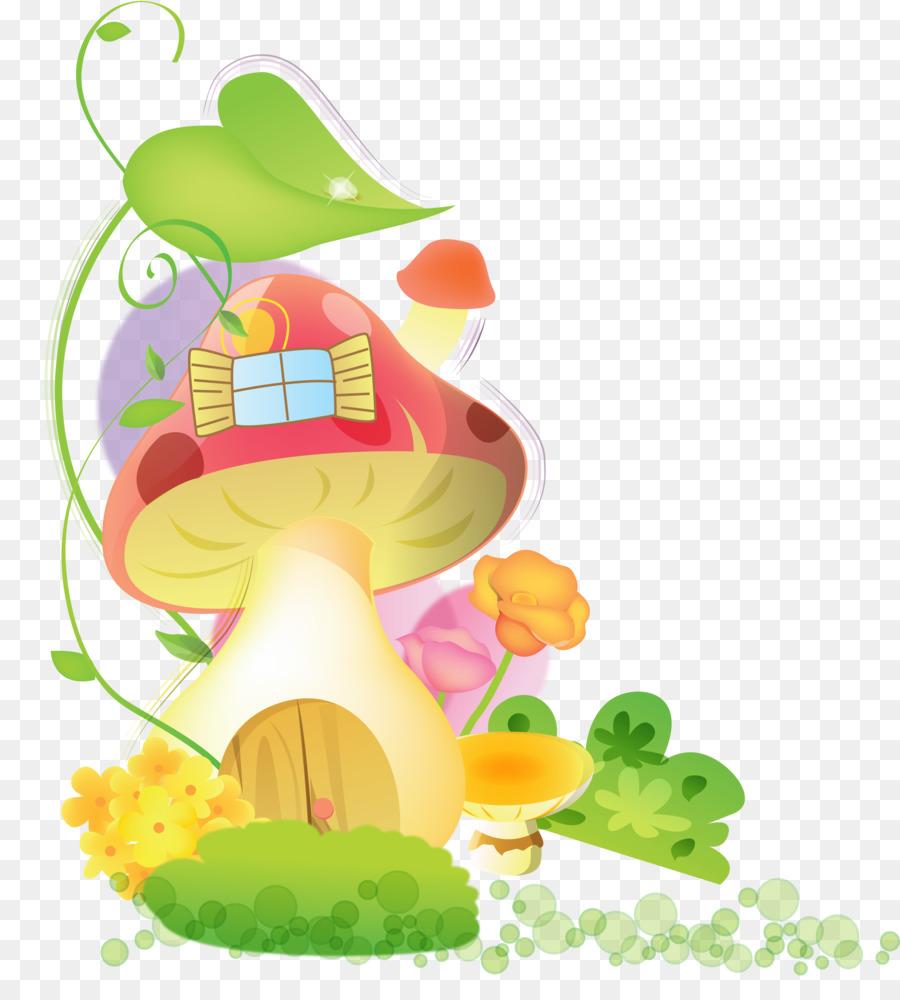 Desktop Wallpaper Mushroom House Clip art - GARDEN png download ...