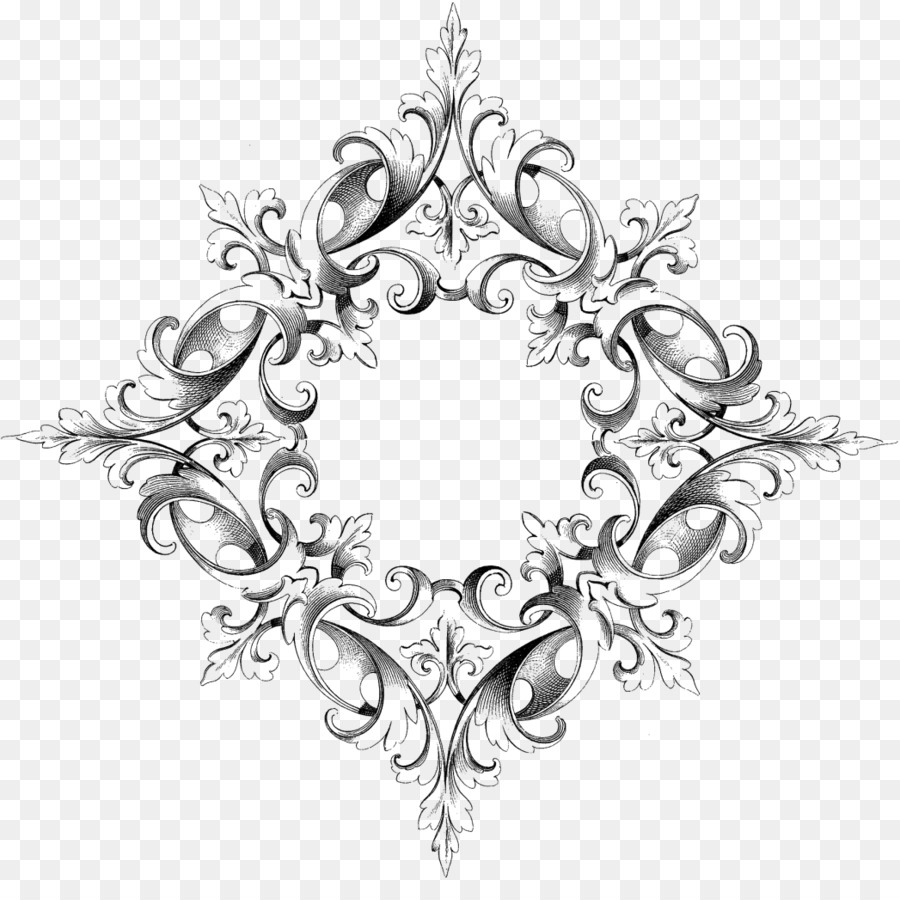 Picture Frames Ornament Scroll Drawing - Lace Boarder png download ...