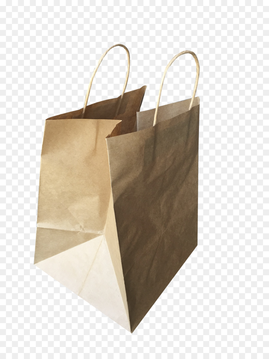 Kraft Paper Packaging And Labeling Shopping Bags Trolleys