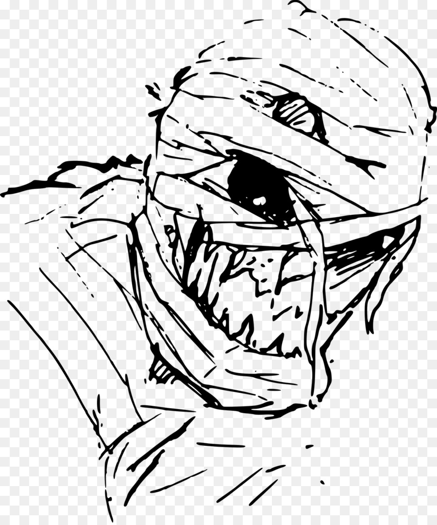 Mummy Drawing Evil Legendary creature - mummy png download - 1072 ...