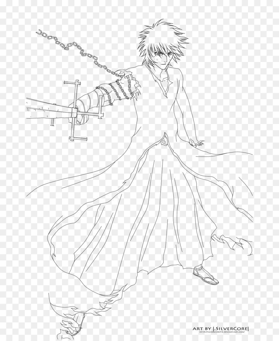 Ichigo kurosaki Line art Drawing - ichigo kurosaki Formatos De ...