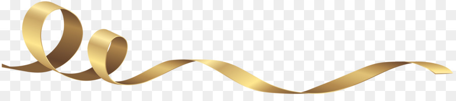 Gold Ribbon Clip art - curly png download - 8000*1675 ...