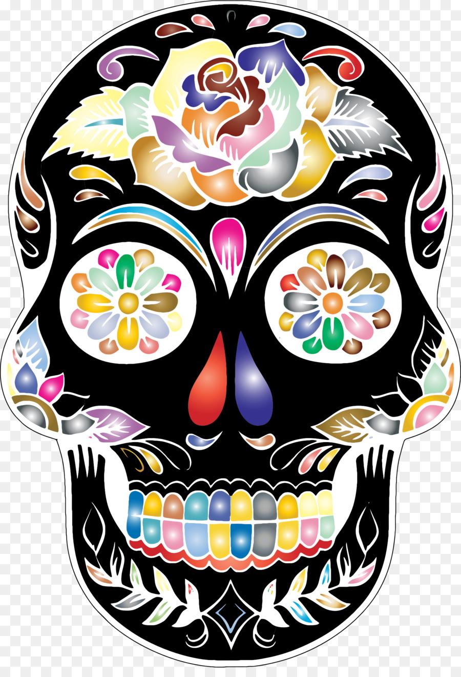 foto de Calavera Skull Day of the Dead Clip art skulls png download 1608*2326 Free Transparent