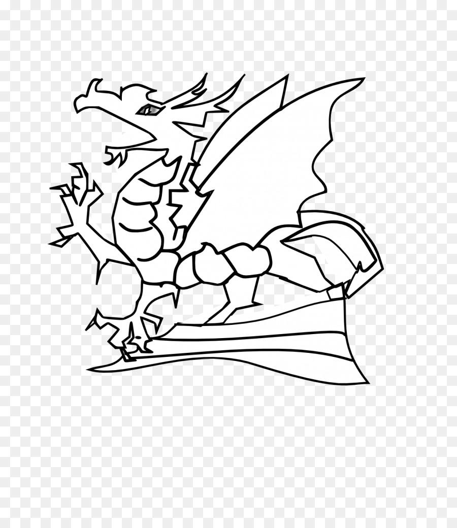 Dragón en blanco y Negro imágenes prediseñadas - dragón barbudo ...